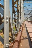 picture of girder  - Detail take of the girders of an old industrial bridge - JPG