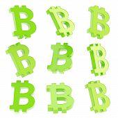 stock photo of peer  - Bitcoin green peer - JPG