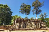 stock photo of buddhist  - Ancient buddhist khmer temple in Angkor Wat complex - JPG