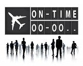 foto of punctuality  - On Time Punctual Efficiency Organization Management Concept - JPG