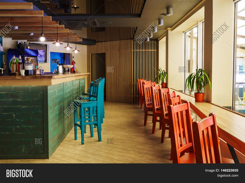 modern restaurant or cafe interior. public place interior design
