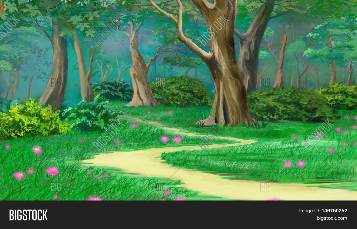 Footpath Fairy Tale Summer Forest. Image & Photo | Bigstock