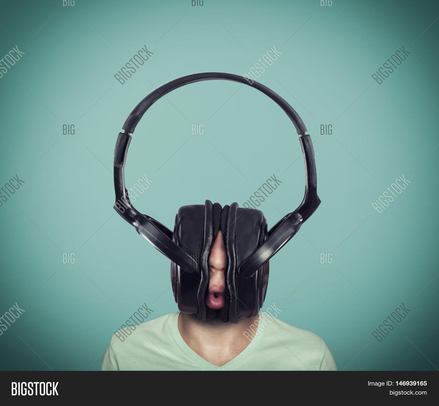 Image result for man with big headphones