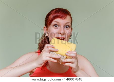 Young Girl With Cheese