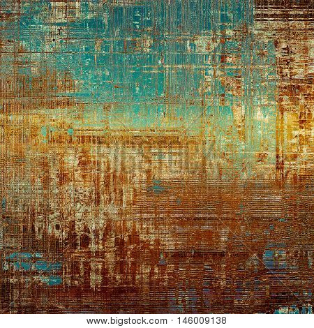 Rough textured backdrop, abstract vintage background with different color patterns: yellow (beige); brown; blue; red (orange); cyan