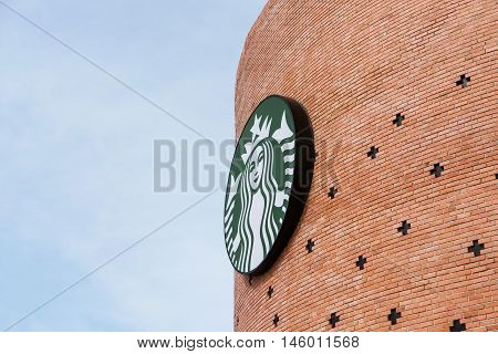 BANGKOK, THAILAND - 2 SEP - Starbucks Coffee. Starbucks is the largest coffeehouse company in the world,  Bangkok, Thailand on September 2, 2016