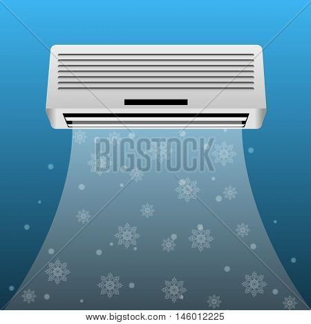 air conditioner realistic background eps 10 vector