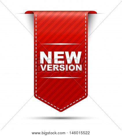 This is red vector banner design new version