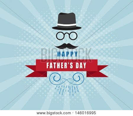 happy father's day card background vector illustration