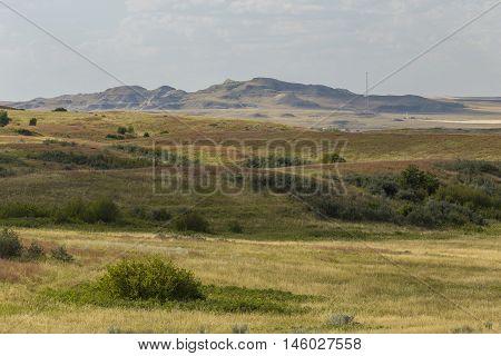 A scenic grassland landscape of western North Dakota.
