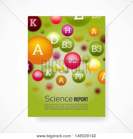 Medical poster background template. Science report, chemical biology, biochemistry report illustration vector