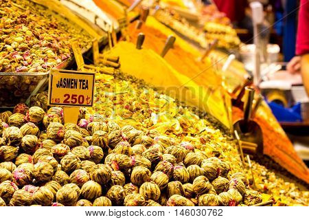 Istanbul, Turkey - October 16, 2015 : Walk to the shops at Grand Bazaar