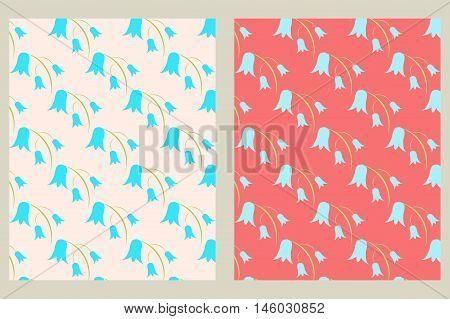 Vector set of 4 background patterns in pastel tones.