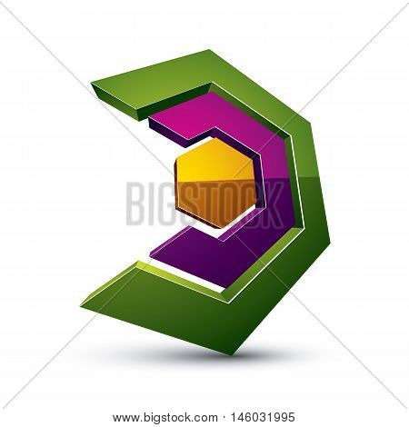 Three-dimensional Colorful Graphical Interface Icon Isolated On White, Teamwork Idea Vector Design E