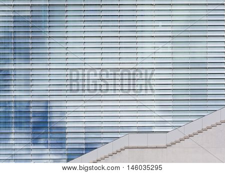 Modern Architecture, Sky Reflection In Windows /  Glass Facade
