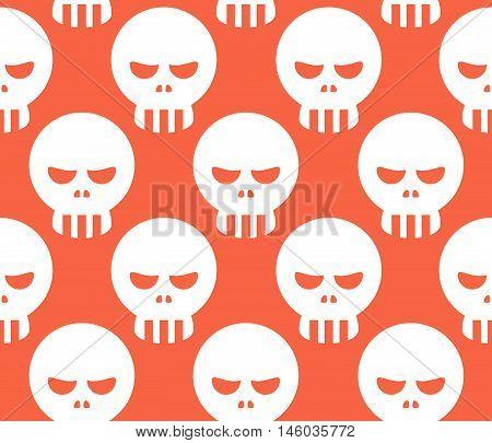 Seamless Human Head Skull Pattern