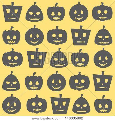 Seamless Halloween Scary Pumpkin Pattern