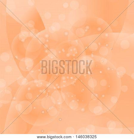 Circle Orange Light Background. Round Wave Pattern.