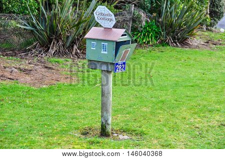 THE CATLINS, NEW ZEALAND - AUGUST 11, 2012: Mailbox in the Catlins Southern Scenic Route New Zealand