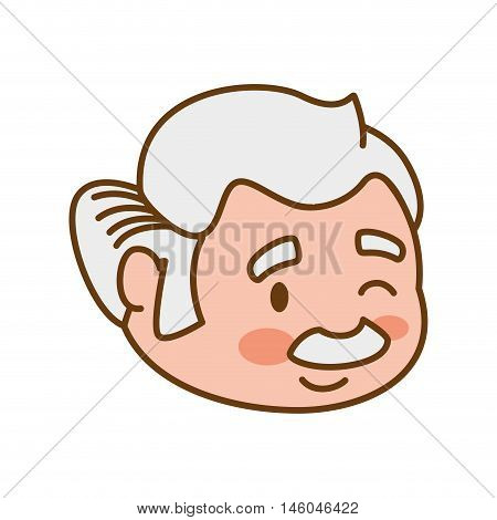grandfather old person man male icon. Isolated and flat illustration. Vector graphic