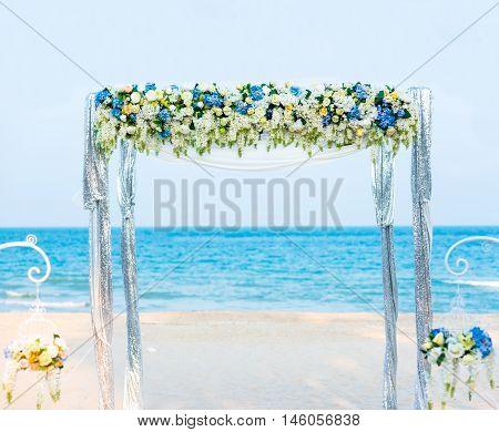 Wedding Ceremony Gate  On  The Beach.