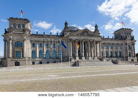 The Reichstag Building In Berlin,  German Parliament
