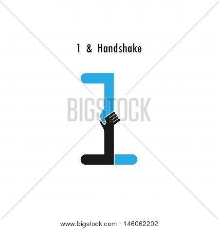 Creative 1- number icon abstract logo design vector template.Business offerpartnership icon.Corporate business and industrial logotype symbol.Vector illustration