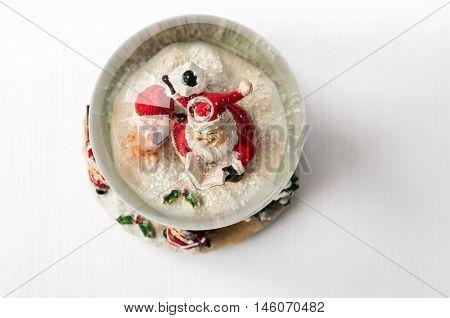 Snow Globe With Santa Claus Inside
