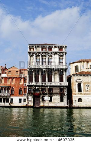 Palaces on Grand Canal. Venice. Italy