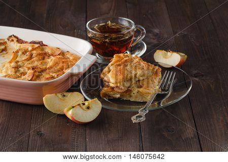 Preparation Of Homemade Apple Pie