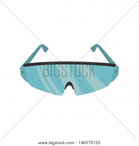glasses work safety industrial security equipment vector illustration
