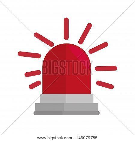 red siren alarm emergency safety equipment vector illustration