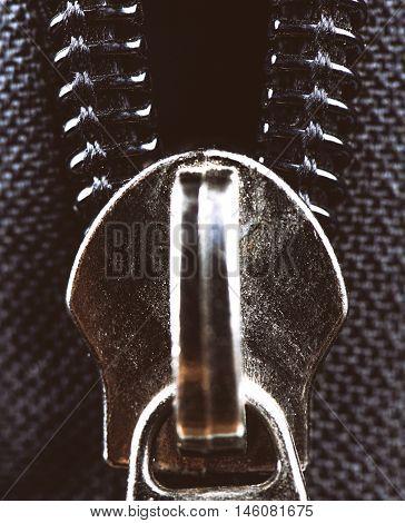 clothes zipper - clothe lock - close-up, macro photography