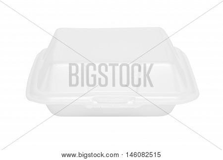 a cardboard box and disposable white foam with a white background