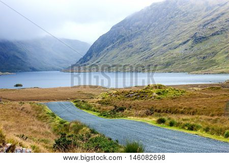 A view of Doo Lough, and Ben Bury, Co. Mayo, Ireland.