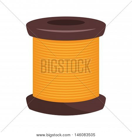 spool of thread knit. sewing equipment vector illustration