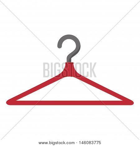 clothing hanger hook. coat rack tool vector illustration