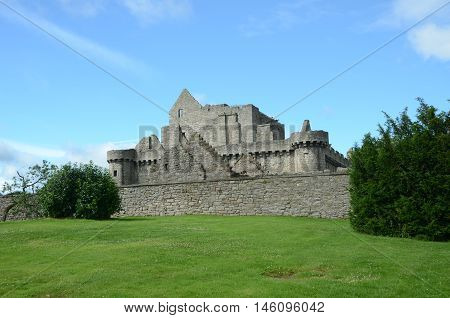 A view of the medieval Craigmillar castle