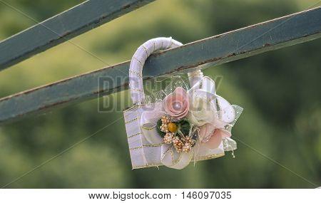 WEDDING pretty single lock a symbol of eternal love