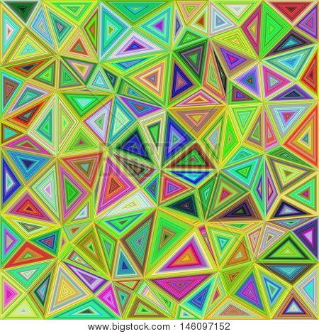 Colorful irregular triangle mosaic vector background design