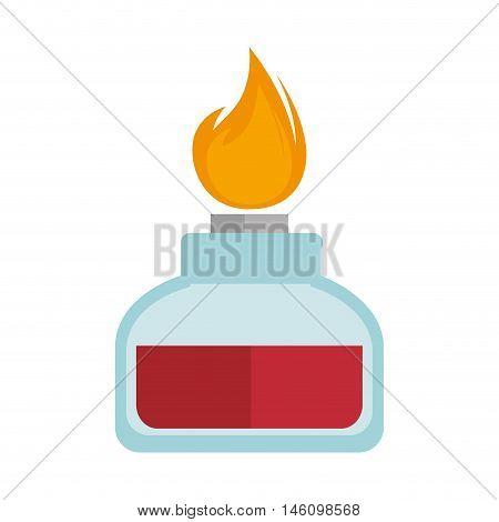 spirit lamp chemical alcohol fire  burner. vector illustration