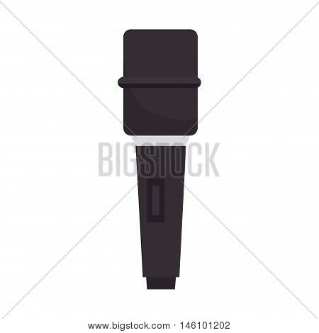 microphone audio and technology device. news journalist vector illustration