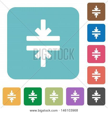 Flat horizontal merge icons on rounded square color backgrounds.
