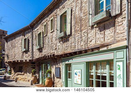 Carcassonne, France - April 1, 2011: Vintage Restaurant In Old City