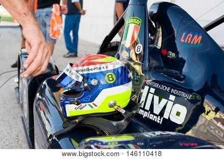 Vallelunga, Rome, Italy. September 4Th 2016. Sport Prototype Italian Championship Race