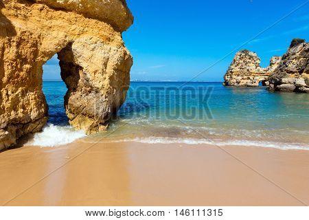 Yellow Cliffs Near Beach (lagos, Algarve, Portugal).