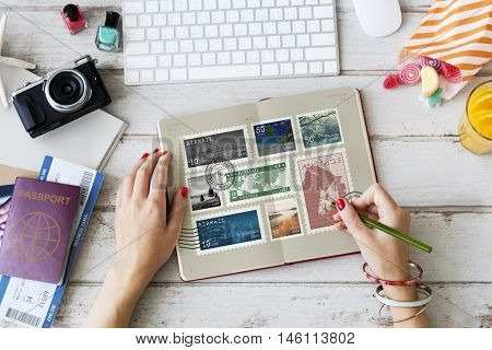 Stamp Post Correspondence Communication Memories Concept