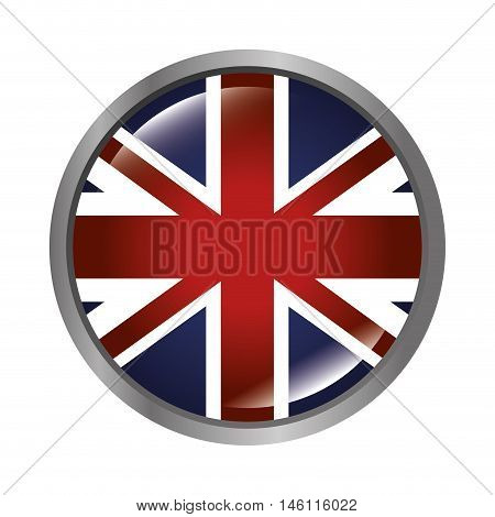 london city flag in a circle shape. british symbol. vector illustration