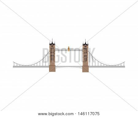 london tower bridge building. british iconic symbol. vector illustration