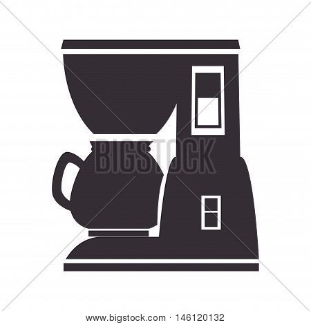 coffee maker machine, domestic electronic kitchen utensils. vector illustration